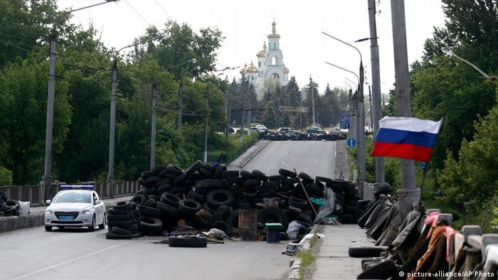 Ostukraine Krise Checkpoint bei Slowjansk