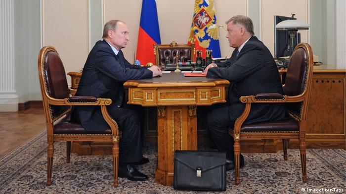 Vladimir Putin and Vladimir Yakunin