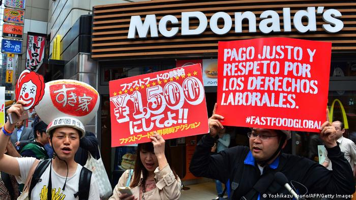 Tokyo Protest Fastfood