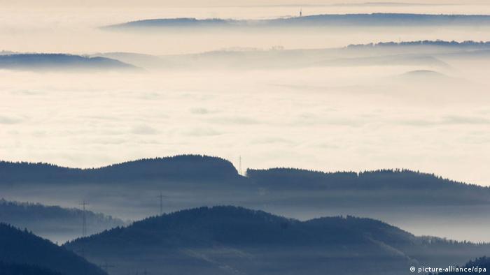 Вид на Гарц с вершины горы Брокен