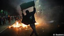 Brasilien Tumulte bei Massenproteste einen Monat vor WM Sao Paulo