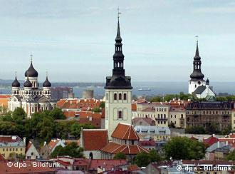 A view of Tallinn, the Estonian capital