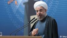 Das Bild zeigt Hasan Rouhani heute bei einer Rede in Tehran über Internet Informationsgeselschaft Quelle: irna Copyright: frei
