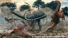 Dinosaurier Fund Argentinien Leinkupal laticauda Fund Illustration