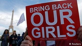 Protestors in Paris call for the release of the kidnapped girls