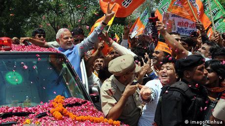 Indien Neu-Delhi Wahlsieger Modi 2014