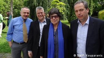 (από αριστ.) Γιάννης Ζελεπός, Ούλριχ Μένιχ, Μαριλίζα Μητσού και Μίλτος Πεχλιβάνος