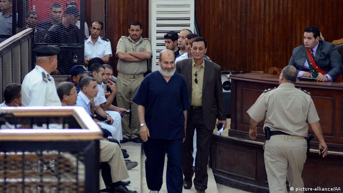 Morsi supporters being sentenced