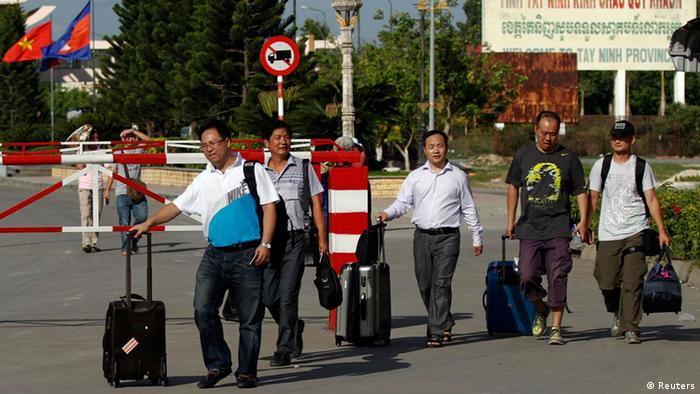 Kambodscha Chinesen verlassen Vietnam 15.05.2014