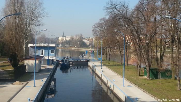 he river Elbe at Nymburk, Czech Republic