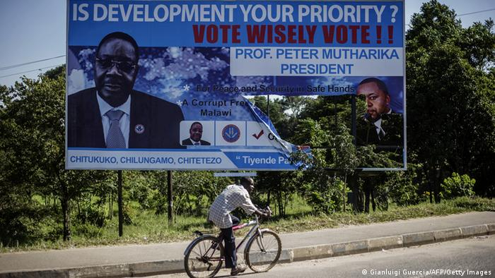 Malawi Wahlkampf Peter Mutharika (Gianluigi Guercia/AFP/Getty Images)