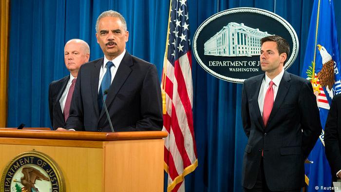 USA Justizminister Eric Holder zu Wirtschaftsspionage aus China