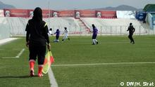 The primarily women's soccer league started on 20 may 2014 in Kabul, Afghanistan. This is the second year after Taliban regime in the country that the women's soccer league to be held in Kabul. According to Afghan officials at least 360 players from different teams in Afghanistan joined to this league in 2014. More than 1000 Afghan women are officially playing soccer, but most of them can not join the league because of old Traditions in the families. Photo: H.Sirat-DW