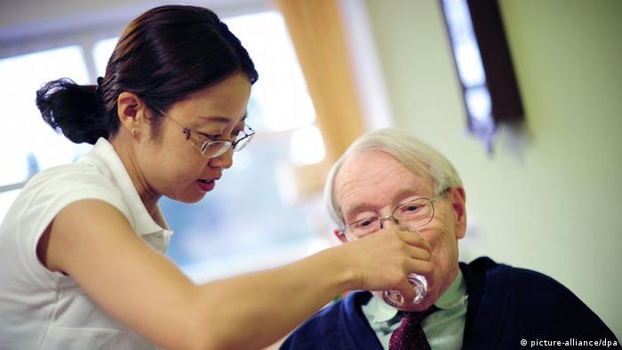 Pflegekräfte aus China nehmen die Arbeit auf