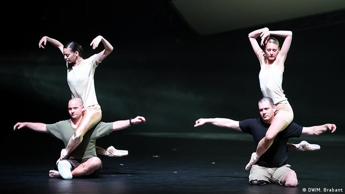 A picture showing two of the veterans, Henrik and Martin dancing with able bodied ballerinas in the ballet.