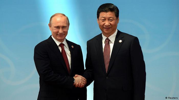 China Wladimir Putin und Xi Jinping 21.05.2014