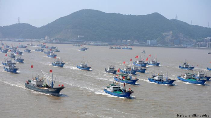 Fischerboote in China