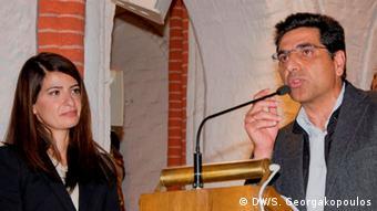 Η δημοσιογράφος Λίντα Ζερβάκη και ο καρδιολόγος Γιώργος Βήχας, ιδρυτής του ΜΚΙΕ