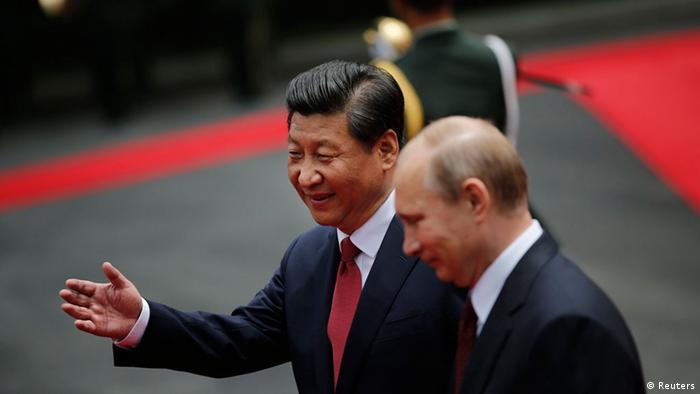 Председатель КНР Си Цзиньпин принимает Владимира Путина в Пекине