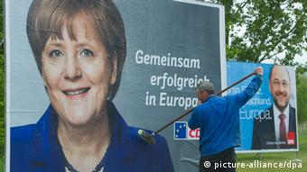Angela Merkel on a CDU poster for the EU elections