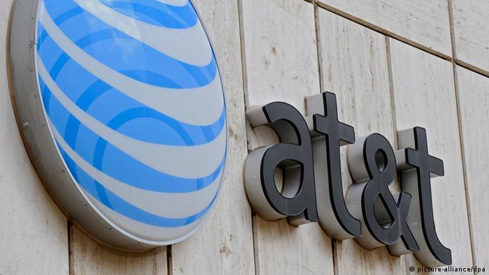 Logo von AT&T Zentrale in Dallas