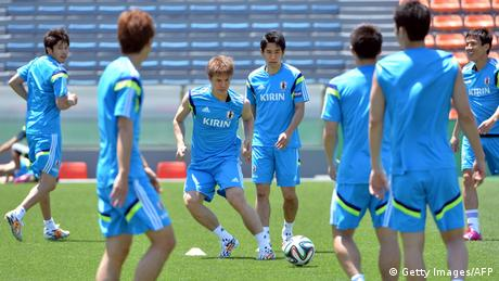 Fußball WM 2014 Nationalmannschaft Training Japan