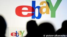 ARCHIV - Das Logo des Internet-Auktionshauses ebay ist am 24.05.2011 in Berlin zu sehen. Foto: Maurizio Gambarini/dpa (zu dpa: Umkämpfter Bezahldienst PayPal bleibt Zugpferd für Ebay vom 30.04.2014) +++(c) dpa - Bildfunk+++