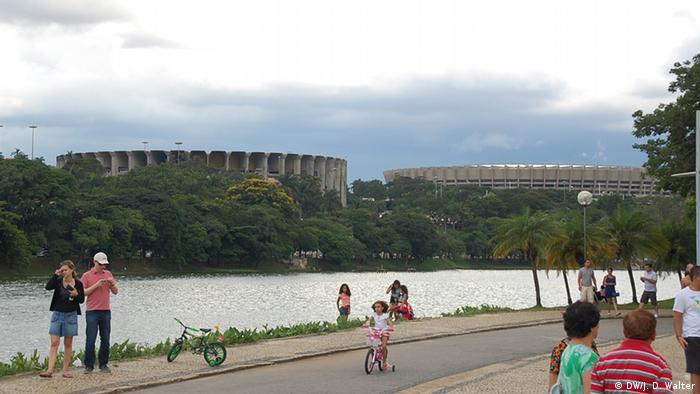 Das WM-Stadion Mineirao und die Mehrzweckhalle Mineirinho in Belo Horizonte