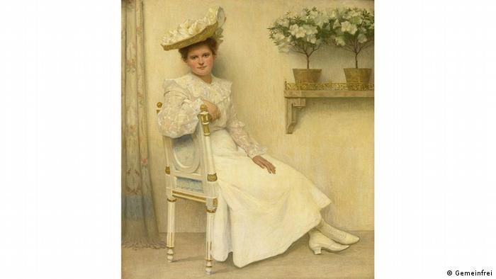 Heinrich Hellhoff hat 1906 seine Tochter Charlotte Testrup portraitiert. (Quelle: Wikipedia / http://commons.wikimedia.org/wiki/File:Heinrich_Hellhoff_-_Portrait_von_Charlotte_Testrup_,_seiner_Tochter.jpg?uselang=de)