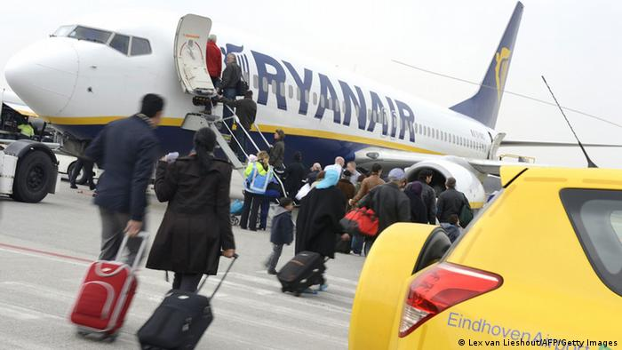 Самолет авиакомпании Ryanair в Эйндховене