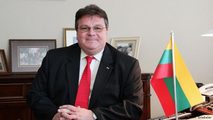 Litauens Außenminister Linas Linkevicius (Foto: DW/M. Griebeler)