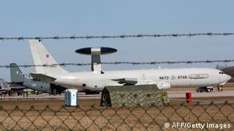 NATO AWACS in Lithuania. (Photo: PETRAS MALUKAS/AFP/Getty Images)