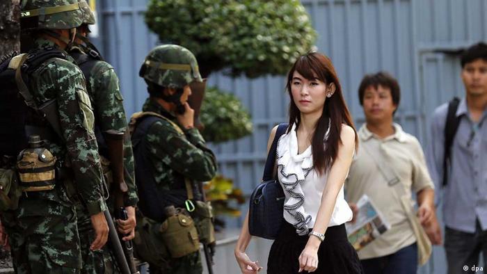 Soldaten nach dem Putsch