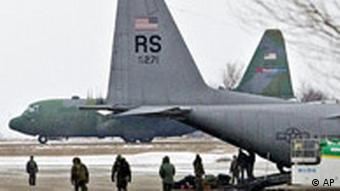 US aircraft parked at Romanian airfield