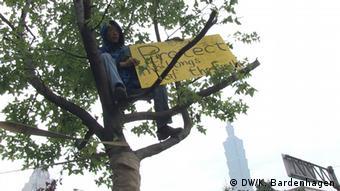 Protest gegen das Fällen von Bäumen in Taiwan