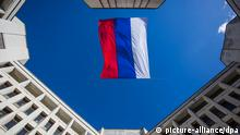 2399083 03/17/2014 The Russian flag above the building of the Supreme Council of the Autonomous Republic of Crimea in Simferopol. The latter declared the republic's independence at the parliament's extraordinary plenary meeting. Andrey Stenin/RIA Novosti
