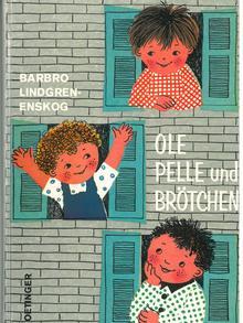 Book cover for Barbro Lindgren's Ole, Pelle und Brötchen (German version), Copyright: