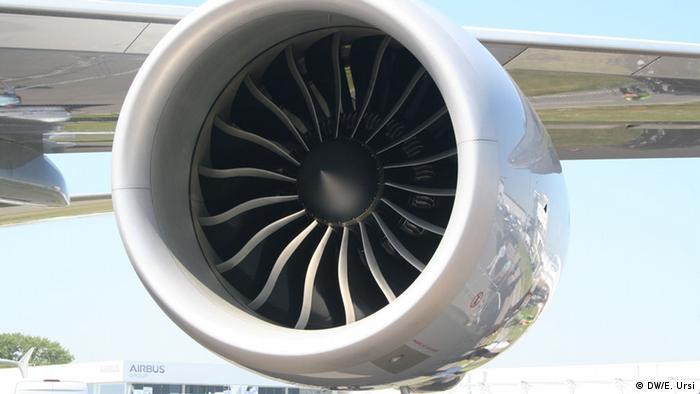 Eine Flugzeugturbine (Foto: Eva Usi / ILA)