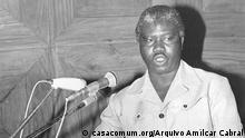 Carlos Correia intervindo num congresso após a independência da Guiné-Bissau