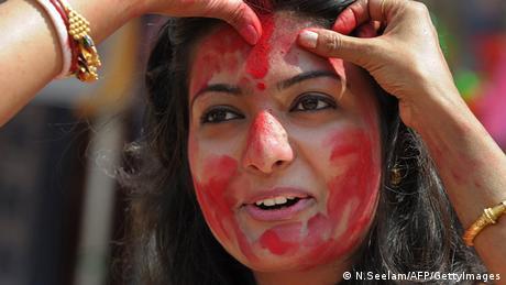 Bengalische Frau Sindoor