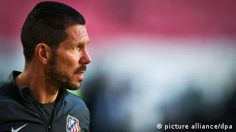 Atletico Madrid-Trainer Diego Simeone