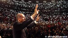COLOGNE, GERMANY - MAY 24: Turkish PM Recep Tayyip Erdogan arrives to Lanxess Sports Arena for the anniversary celebrations of the Union of European Turkish Democrats, a Cologne-based non-governmental lobbying group, in Cologne, Germany on May 24, 2014, (Kayhan Ozer - Anadolu Agency)
