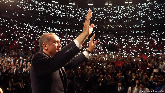 Turkish PM Recep Tayyip Erdogan arrives at Lanxess Sports Arena for the anniversary celebrations of the Union of European Turkish Democrats, a Cologne-based non-governmental lobbying group, in Cologne, Germany on May 24, 2014, (Kayhan Ozer - Anadolu Agency)