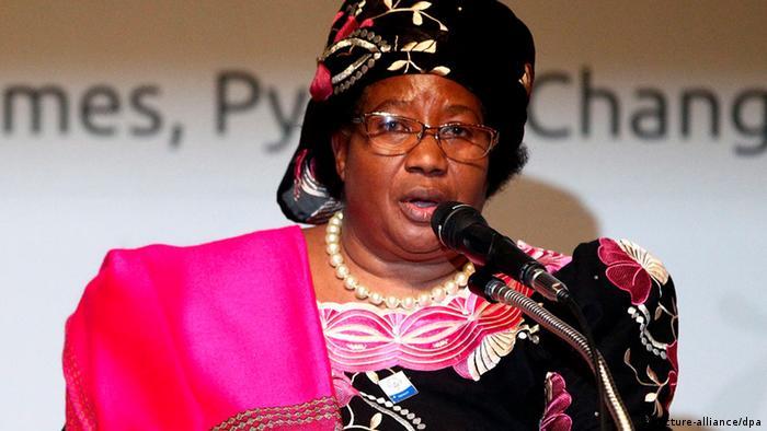 Malawi Präsidentin Joyce Banda
