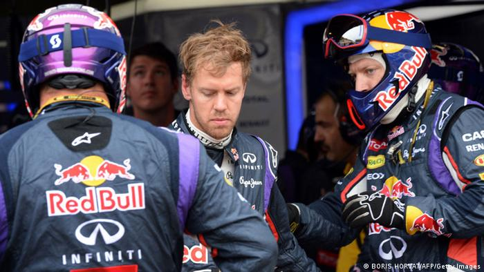 Sebastian Vettel bersama Red Bull pada Grand Prix Monako 2014 (BORIS HORVAT/AFP/Getty Images)