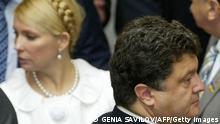 Ukraine Wahl Kandidaten Julia Timoschenko und Pjotr Poroschenko