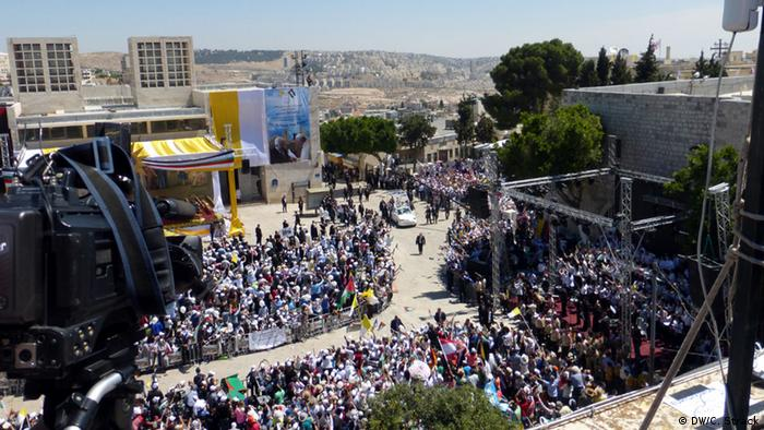 Papst Franziskus besucht Palästinenser 25.05.2014 Manger Square