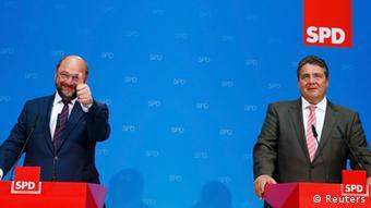 EU Parlamentswahl 25.05.2014 Deutschland SPD Schulz und Gabriel Berlin