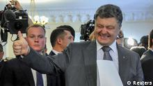 Präsidentschaftswahlen in der Ukraine Poroschenko Stimmabgabe 25. Mai
