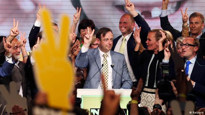 EU Parlamentswahl 25.05.2014 Belgien de Wever feiert